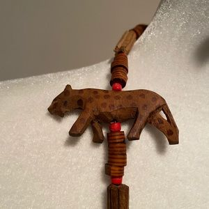 Jewelry - Vintage Handcarved wooden African Animal Necklace
